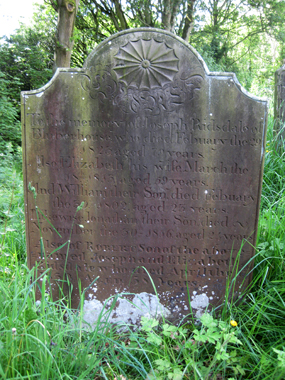 The tombstone in Fewston churchyard inscribed with not one but two curious February dating discrepancies