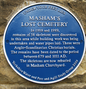 Plaque commemorating Masham's Lost Cemetery
