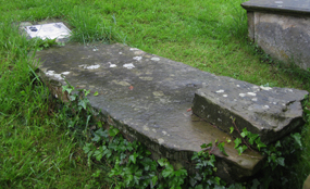 Robert Willance's grave in the churchyard of St Mary's, Richmond - in accordance with his wishes, his leg which had been amputated and buried ten years previously was exhumed and reinterred with the rest of his mortal remains
