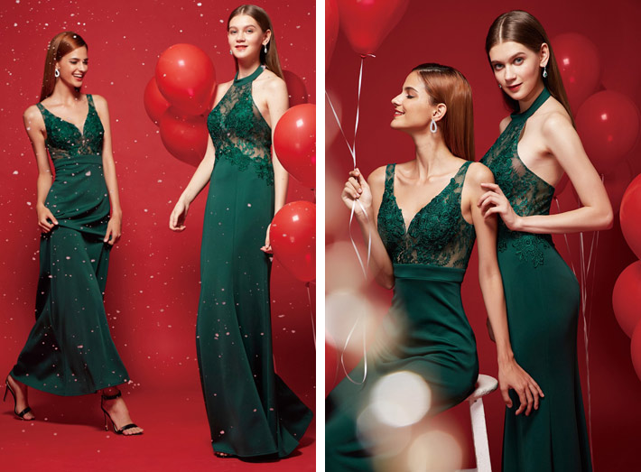 3 Dresses for the Christmas Party evening