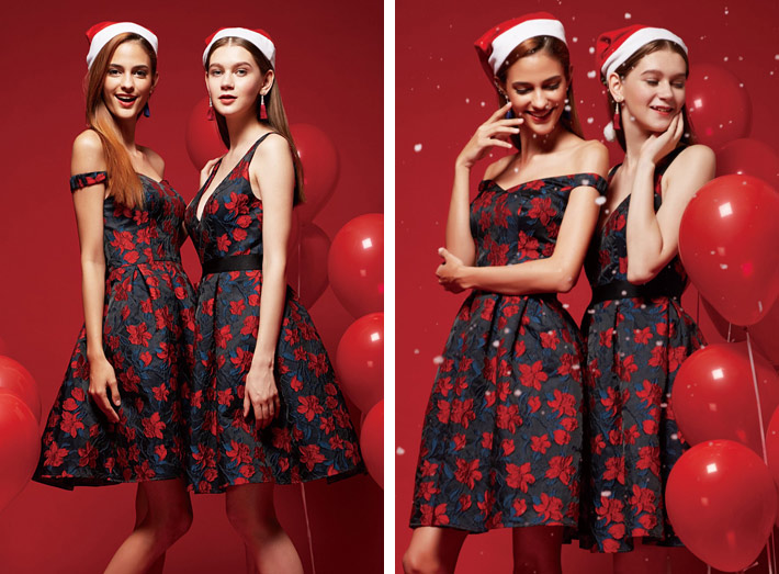 3 Dresses for the Christmas Party flare