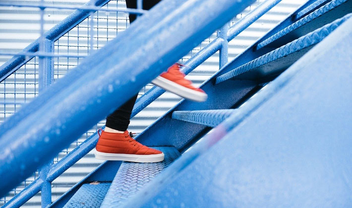 5 Simple Tips to Help You Stay Healthy in the Office stairs