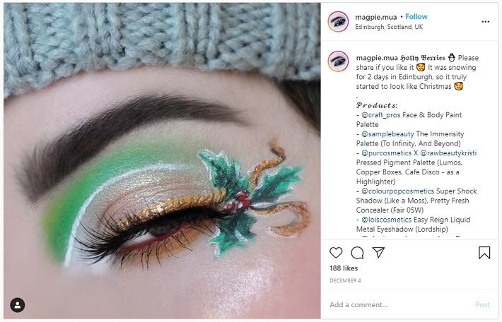 6 Festive Eye Makeup Looks dazzling green