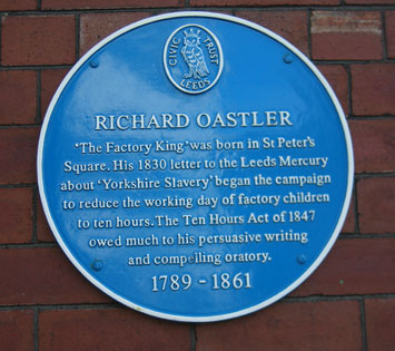 A Profile of Yorkshire Abolitionist Richard Oastler plaque