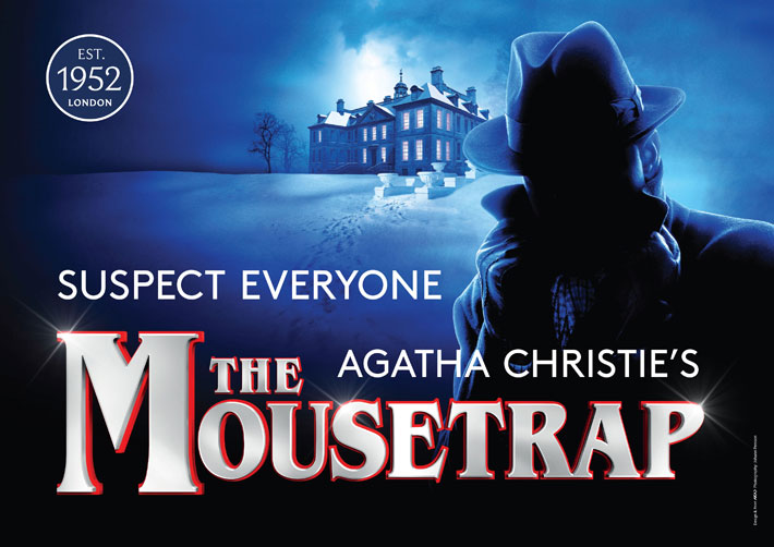 Agatha Christie's The Mousetrap Review Hull New Theatre january 2020 poster