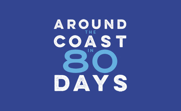 Around the Coast in 80 Days by Peter Naldrett book review logo main