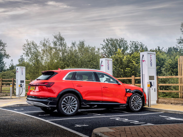 Audi e-tron 55 Quattro car Review charging