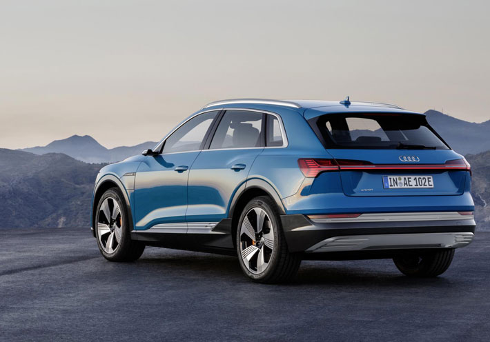 Audi e-tron 55 Quattro car Review rear