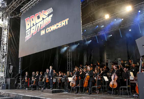Back to the Future Orchestra of Opera North leeds millennium square logo