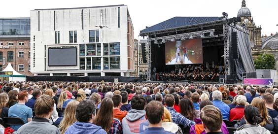 Back to the Future Orchestra of Opera North leeds millennium square