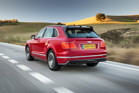 Bentley Bentayga W12 rear view car review
