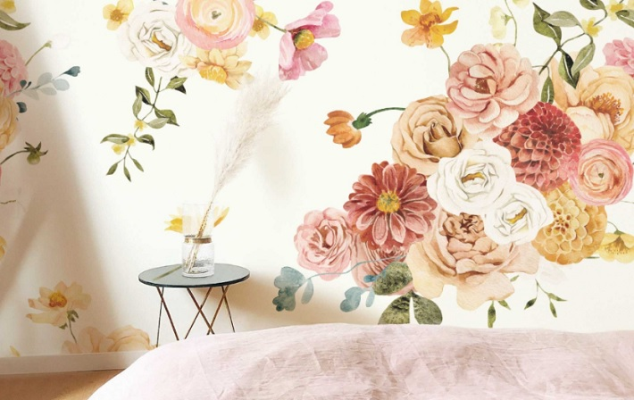 Best Floral Patterns to Add to Your Walls for an Amazing DIY Transformation flowers