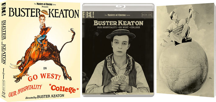 Buster Keaton 3 Films Volume 3 (Go West Our Hospitality College Review cover
