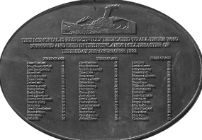 Collapse of Newland Mill Chimney in Bowling Bradford memorial plaque
