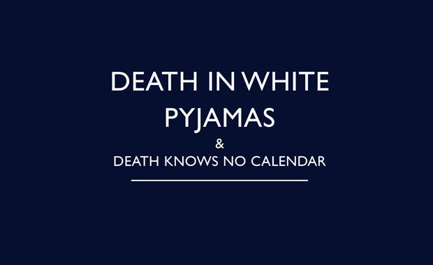 Death in White Pyjamas Death Knows No Calendar by John Bude Review main logo