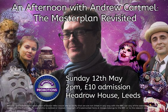 Doctor Who Event Preview Leeds An Afternoon with Andrew Cartmel poster