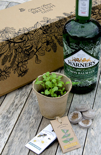 Get Growing Kits from Warner's Gin Review bottle