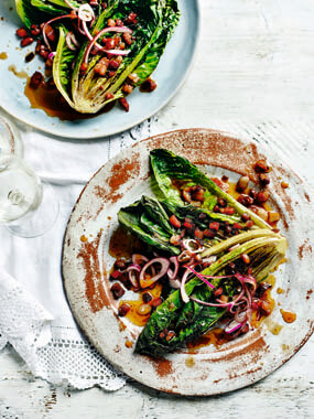 Grilled-Lettuce-with-Sweet-and-Sour-Bacon-Vinaigrette-recipe