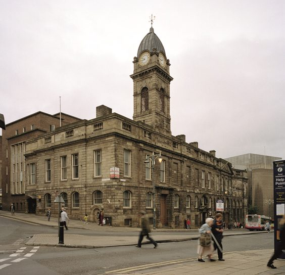 Historic Images of Sheffield City Centre old town hall