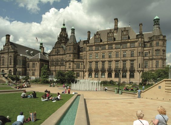 Historic Images of Sheffield City Centre peace gardens