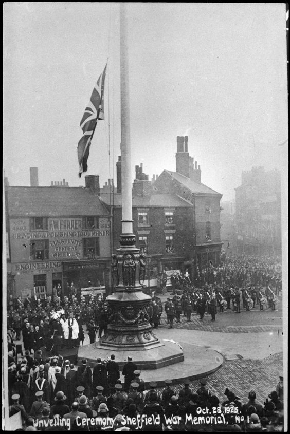 Historic Images of Sheffield City Centre war memorial