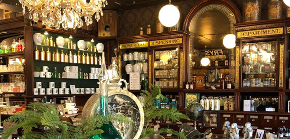 Historical Haworth Shop Interior Inspires New Therapeutic Bath Products cs