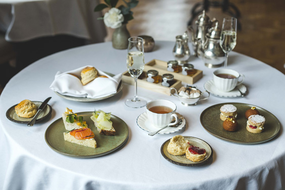 Hudson's at The Grand Hotel York Afternoon Tea Review plate