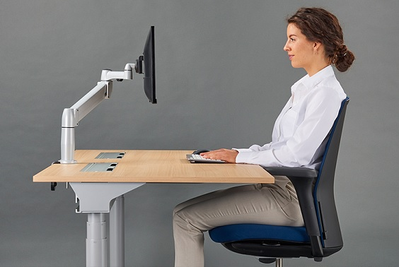 Intervention Leads to An Active Workplace desk