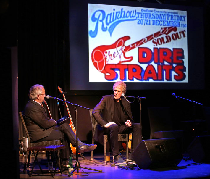 Interview with John Illsley of Dire Straits stage