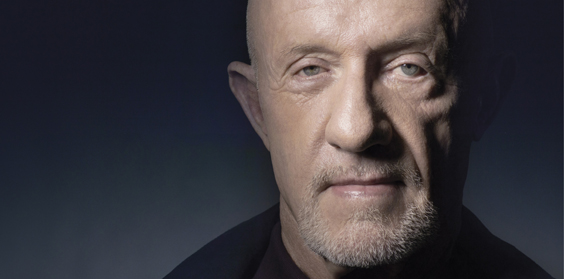 Portrait of actor Jonathan Banks who played Mike in Breaking Bad