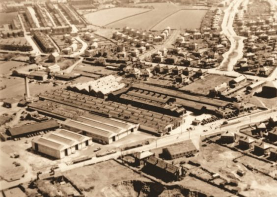 Jowett Motor Company Bradford history factory from the air