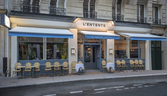 L'Entente Le British Brasserie paris restaurant review exterior