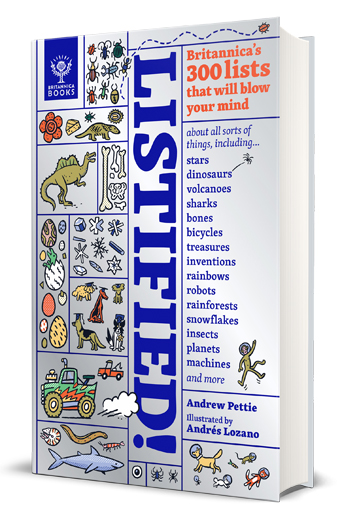 Listified Britannica's 300 Lists that will Blow your Mind by Andrew Pettie book Review cover