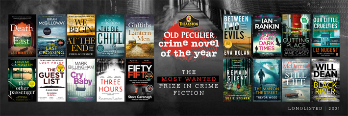 Longlist for Theakstons Old Peculier Crime Novel of the Year Award 2021 Announced books