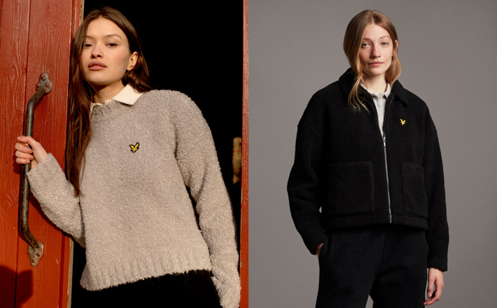 Lyle & Scott Look to Heritage for AW21 Womenswear Collection fleece