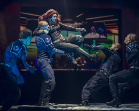 MARVEL UNIVERSE LIVE review SHEFFIELD ARENA black widow