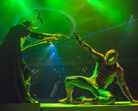 MARVEL UNIVERSE LIVE review SHEFFIELD ARENA loki
