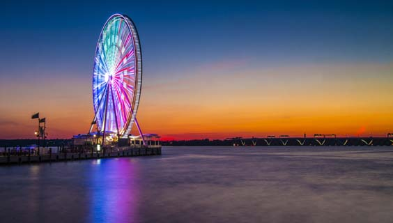 Maryland, Virginia and Washington, USA Travel Review wheel in the sky