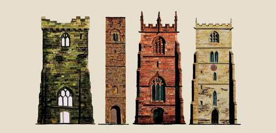Medieval Church Towers in Yorkshire Cities main
