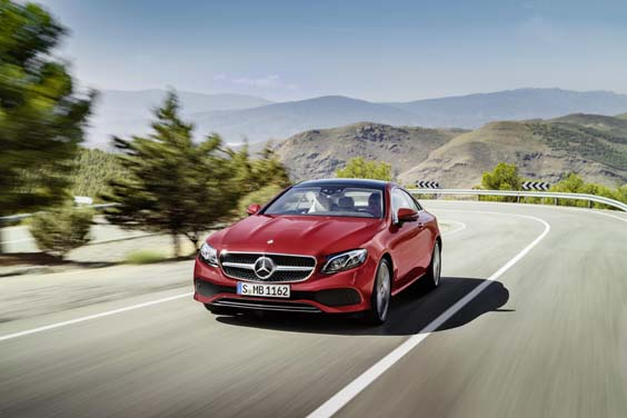 Mercedes Benz E-Class Coupe review front
