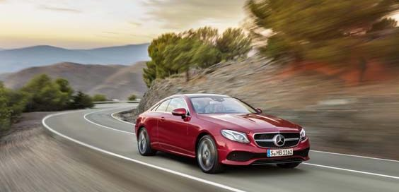 Mercedes Benz E-Class Coupe review red