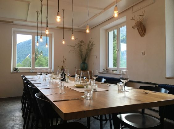 MoaAlm Austria Travel Review dining room