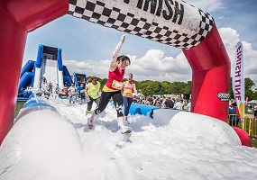 Obstacle Course Visits Temple Newsam Leeds finish line