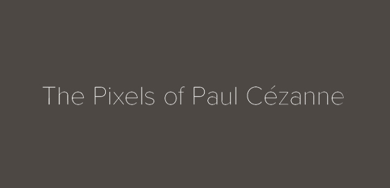 Pixels of Paul Cézanne wim wenders book review logo