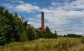 Pleasley Pit country park walk chimney