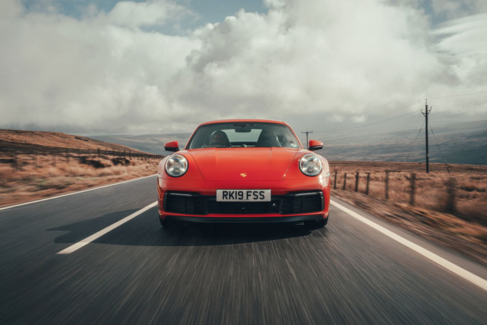 Porsche 911 992 Carrera S car Review front