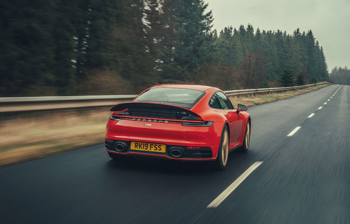 Porsche 911 992 Carrera S car Review rear