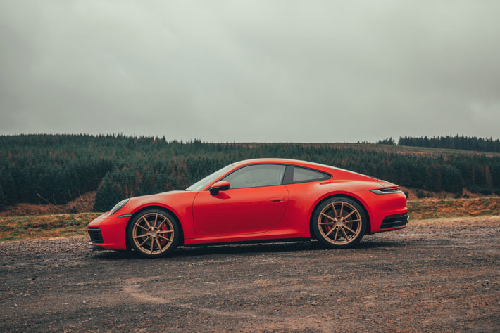 Porsche 911 992 Carrera S car Review side