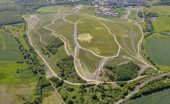 Rabbit Ings country park walk aerial