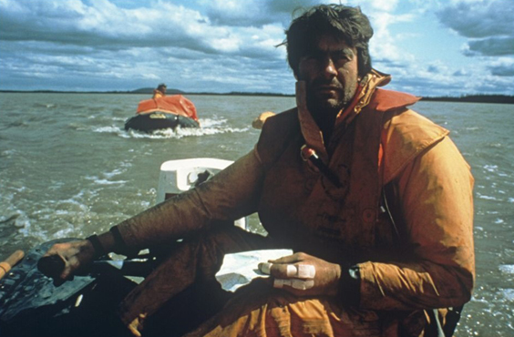 Sir Ranulph Fiennes interview boat